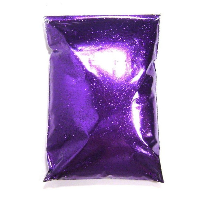 .008 Pro Bulk Glitter .015 or .025 Extra Fine to Chunky 1 lb  454g Package Bright Purple Glitter Solvent Resistant Polyester  .004