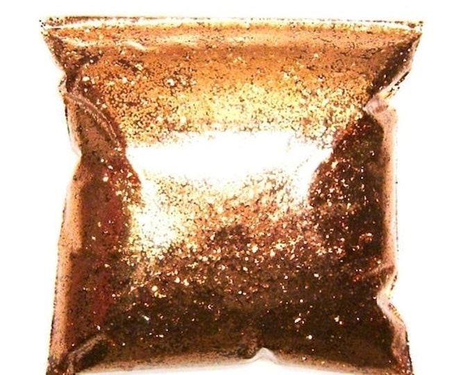 "25% Off Chunky, Shiny Copper Glitter, Solvent Resistant Poly, .025"", Nail Polish, Lip Gloss, Resin Jewelry & Art, Epoxy Safe, 11oz / 325ml P"