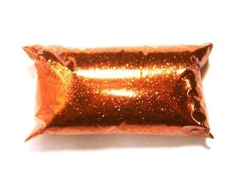 "Bright Orange Fine Glitter Solvent Resistant Polyester .015"" Card Making, Nail Art, Resin Art, Tumblers, Loose Glitter - 6oz / 177ml Package"