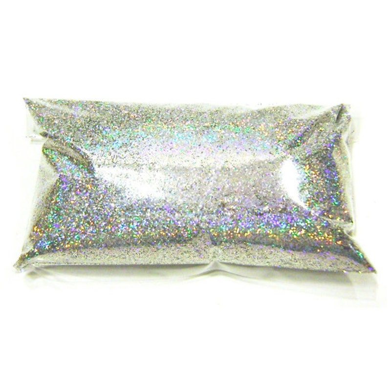 Silver Jewels Holographic Glitter  Solvent Resistant image 0