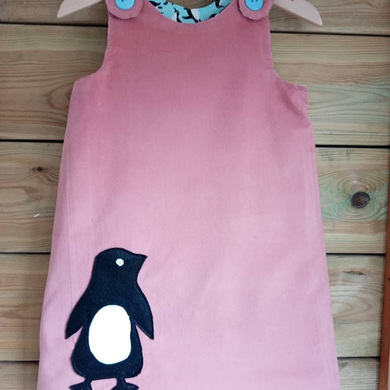 Made To Order 0-8y Reversible Needlecord Pinafore Dress