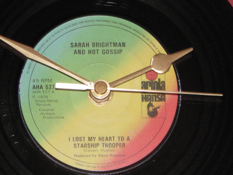 Wall clock disco classic i lost my heart to a starship trooper | Etsy