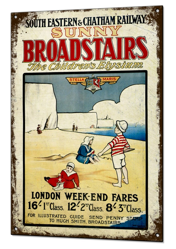 BROADSTAIRS...South Eastern /& Chatham ..Vintage Railway Poster A1,A2,A3,A4 Sizes