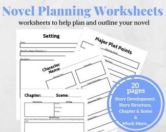 Novel planner | Etsy