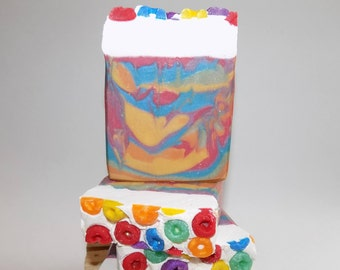 Fruit Loops, Kids Soap, Bar Soaps, Unique Soap, Great Gifts, Handmade, Kid-Friendly, Novelty Soap, Melt & Pour Glycerin Soaps, Artisan Soap