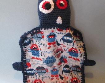Monster, Lovey, Crochet Amigurumi, Lovey Blanket, Security Blanket, Crochet Lovey, Crochet, Handmade Baby Toy, Baby Blanket, Crochet Toy