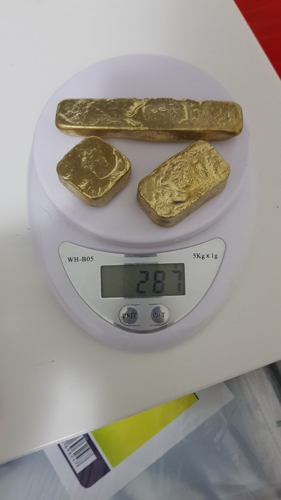 111 grams Scrap gold bar for Gold Recovery melted different computer coin pins