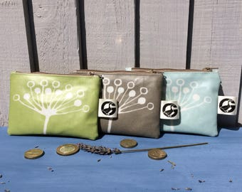 coin purse, water resistant wallet, small makeup organiser, unique small gift for bridesmaids, mother's day gift, teacher gift, mothers day