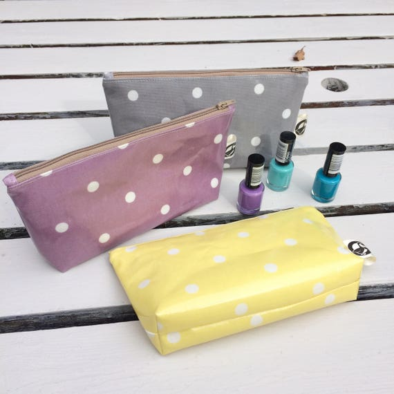 d7f9820045 polka dot makeup bag small pouch for nail varnish overnight