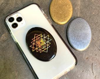 EMF Protection Orgonite® Orgone 5G Cell Phone Shield ~ Anti Radiation Elite Shungite Matrix ~ Sacred Geometry