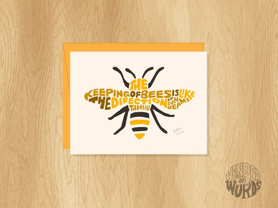 Bumble bee card Bee lover card Insect lover card Beekeeper card Gift for bee lover Birthday bee card Card for him Entomology card