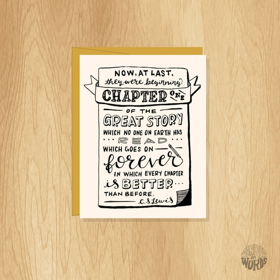 Love Lettered Anniversary Card Wedding Card
