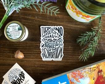 Hand-Lettered Exquisite Beauty Sticker, Edgar Allan Poe Sticker, Inspirational Sticker, Strangeness Sticker, Lettered Sticker, Poe Art