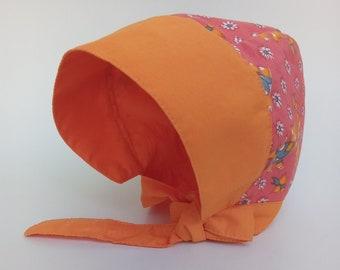 Sun Bonnet for baby girl, sun hat for baby,Cotton