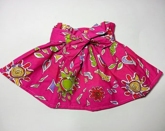 Cute little skirt with belt and elastic band, cotton skirt, from 1-6 years old, perfect shower or birthday gift