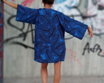 Bohemian Blue Kimono , kimono cardigan, japanese kimono, bohemian kimono, beach cover