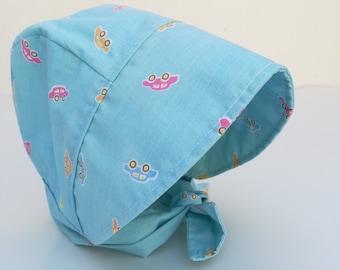 Sun Bonnet for baby boy, cute cars,shower gift, birthday gift,Cotton