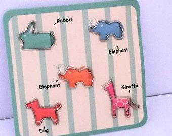 0112ead249ae Fun & Joy Novelty Animal Paper Clip Set- Paperclips - Kawaii Stationery -  Rabbit - Dog - Elephant - Giraffe - Planner Clips - Bookmarks