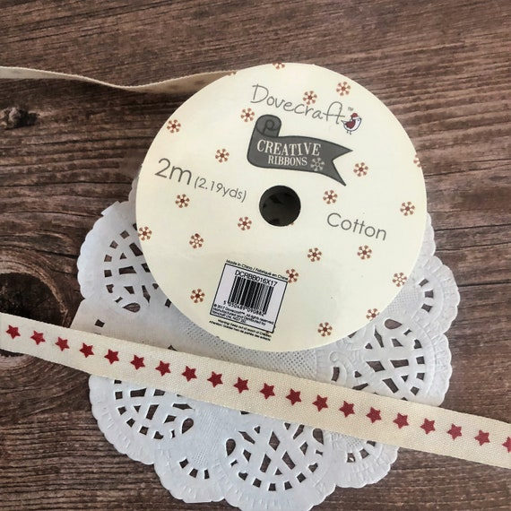 CHOICE OF GROSGRAIN OR GINGHAM DOVECRAFT CREATIVE RIBBON REEL 2 METRE LENGTH