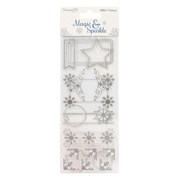 Dovecraft Christmas Theme Snowman 3D Stickers Crafts Cardmaking Scrapbooking