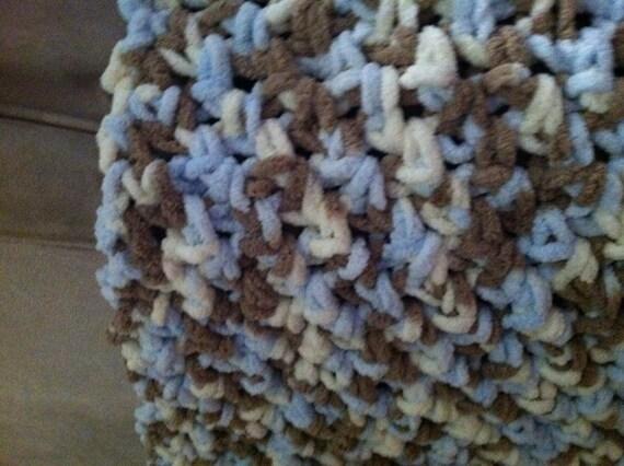 Modified V Stitch Baby Blanket Out Of Bernat Ultra Soft Etsy