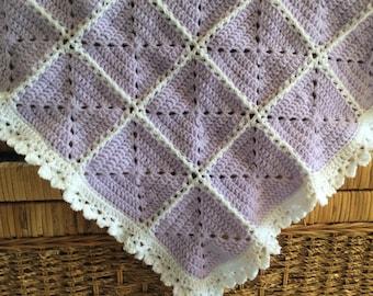 68x56cm Crocheted Baby Blanket