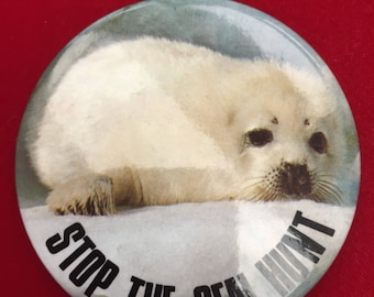 "Animal Activist ""Stop The Seal Hunt"" Seal Pin"