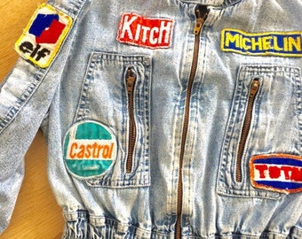 1970's Formula One Porche Racing Patches on Childrens Coverall