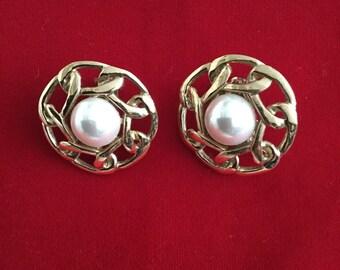 Vintage Early 1990's Nicky Butler Clip-On Earrings