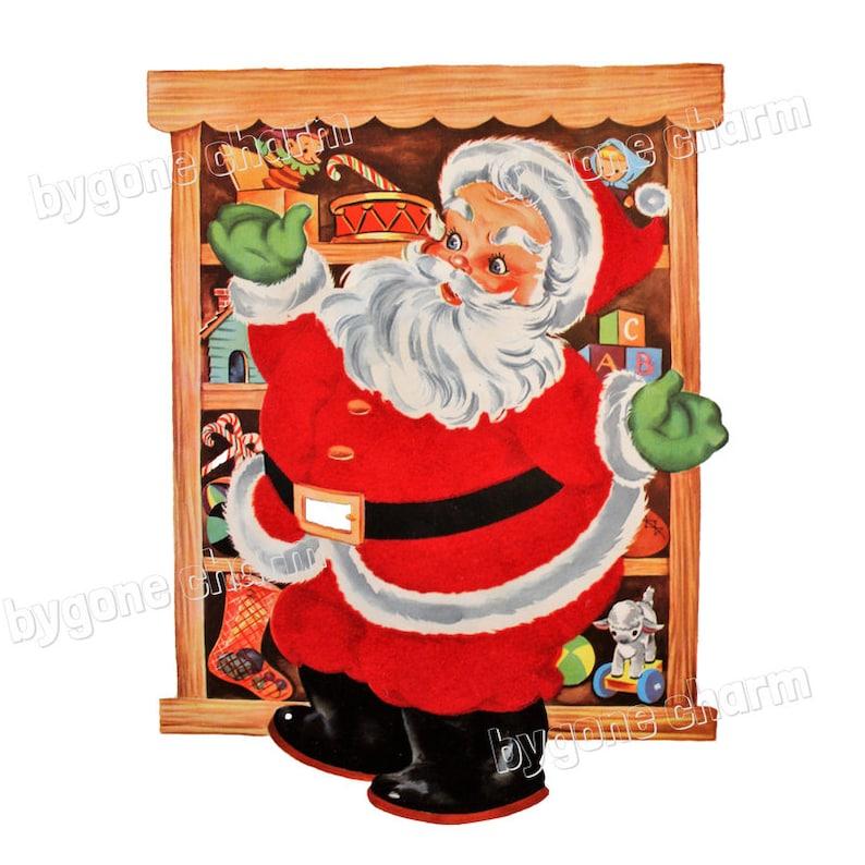 Jouets   Vintage Chubby père Noël Clip Art imprimable 1940  0323d574304
