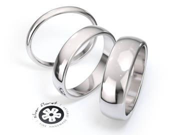 14K White Gold Wedding Band 4a8c785d4