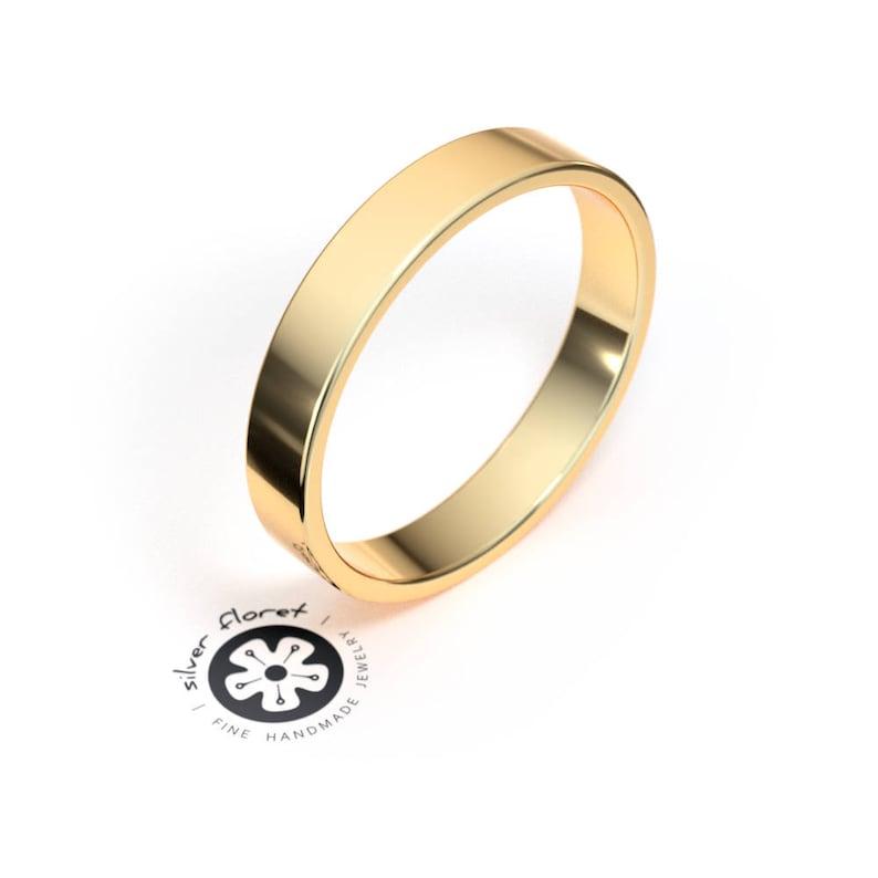 10K White Gold 4mm Flat Band