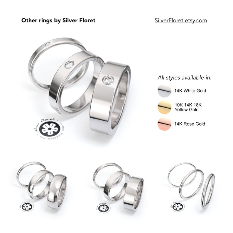 Flat Ring Spacer Ring Guard 1mm ULTRA THIN Yellow Gold Band Square Solid Gold Band Plain 10K, 14K, 18K Ring Divider Minimal Gold Band