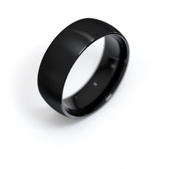 Tiny Flowers Everyday Ring Black Tungsten Flower Wreath Ring Floral Designer Ring Women/'s Wedding Band Comfort Fit Tungsten Ring Band