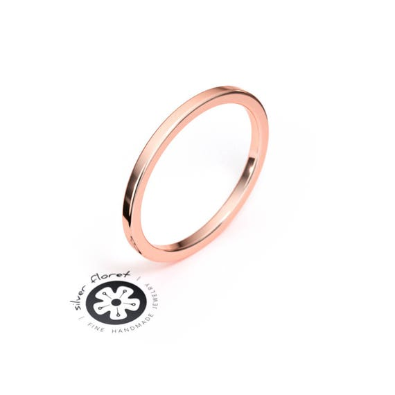 14K Rose Gold 1.5mm Youth Etched Ring