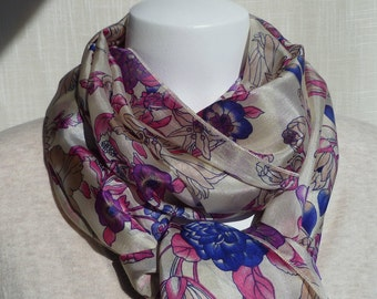 The Morning Glories Soft Silk Scarf