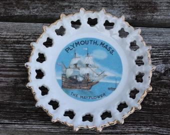 Plymouth Massaschusetts Mayflower Plate