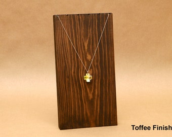Wooden Necklace Display Board / Necklace Holder / Jewelry Display Necklace Stand Trade Show Craft Show Store Display Top Notch 10.5 / NB005