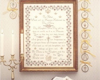 Lord's Prayer Sampler Leaflet for Counted Cross Stitch- #20L