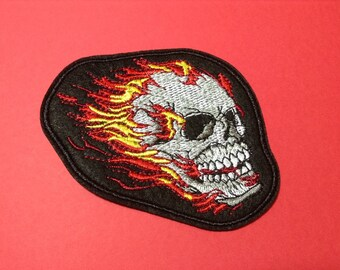 "SKULL CHIEF 7.5/"" x 7.75/"" Embroidered Bikers CENTER PATCH"