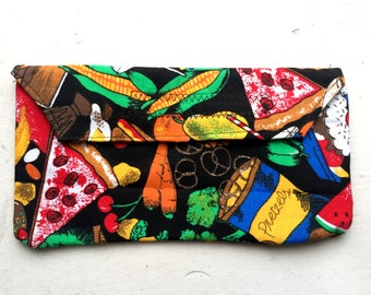 Snack Print Cotton Pouch