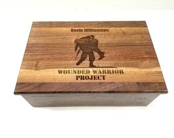 9469b0869d8 Wounded Warrior Memory Box 12x8x4