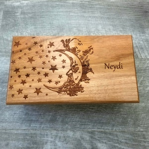 Custom Turtle Traditional Wood Music Box Choose Your Song Personalized Sea Turtle Music Box Tribal Sea Turtle Music Box