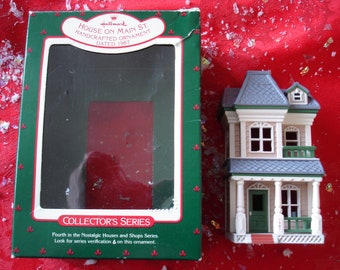 House on Main Street Nostalgic Houses /& Shops 4th in Series 1987 Hallmark Ornament QX4839