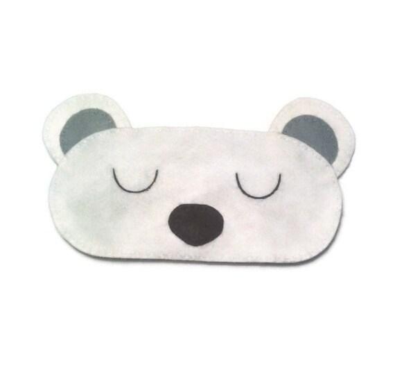 Oso polar ojo máscara antifaz para dormir Oso Polar antifaz | Etsy