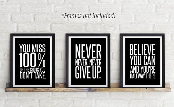 Photography Poster Inspirational Wall Decor Print Wall Saying Art Pictures