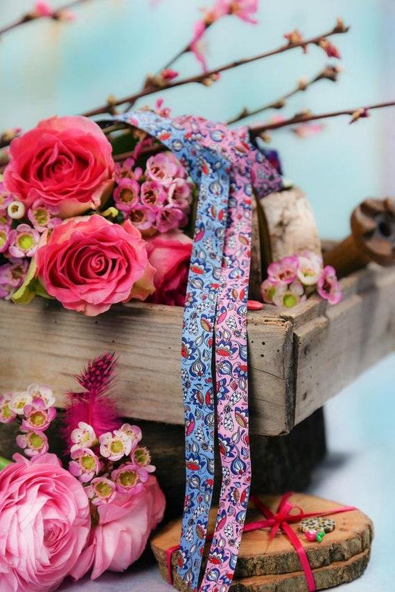 7 hermosas Trachten botones-azul con flores 17mm-guirnalda de flores