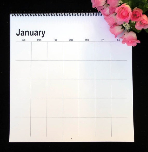 Large Square Blank Perpetual Wall Calendar 12x11 5 Etsy