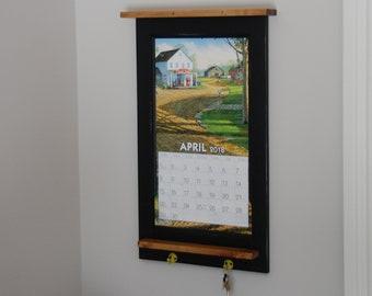 Calendar holder, Calendar Frame, rustic, cottage,
