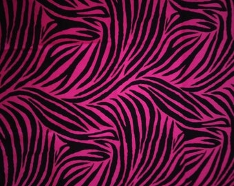 Hot pink zebra print fabric